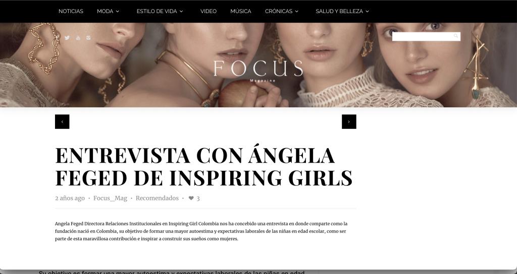 prensa CON ÁNGELA FEGED DE INSPIRING GIRLS